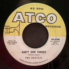 The Beatles . Ain't She Sweet b/w Nobody's Child . 1964 ATCO 45 rpm VG LISTEN