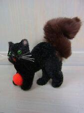 XX159 * black Cat & Ball Wagner Kunstlerschutz  Animal Toy Vintage German