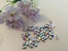 Rhinestones Swarovski Cristal AB Pearshape 6x3.6 mm SF x12 Craft Post Gratis