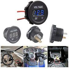 DC 12-24V Car Motorcycle Gauge Voltmeter Ammeter LED Dual Digital Volt Meter LS