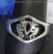 Vintage MEN'S Kokopelli Open Work STERLING SILVER 0.925 Band RING size 11.5