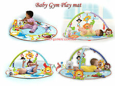 Baby Gym Activity Playmat Soft Play Mat Music Light Sound Toy Set Tummy Time New