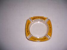 VINTAGE VOGEL'S TV SERVICE HUDSON AVE. WEST NEW YORK GLASS ASHTRAY