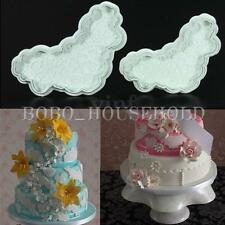 Heart Lace Fondant Cake Decorating Cutter Mould Cookies Biscuit Plunger Mold