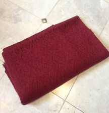 Italian Open Knit Soft Mohair Wool Blend Dark Red RRP £45/m Sample Available