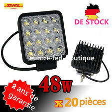 20x 48w quad phares de travail à LED feu projecteur chantier Work light flood la