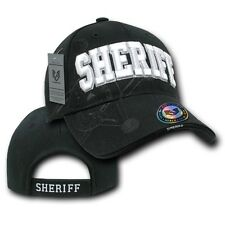 Black County Sheriff Police Officer Deputy Costume Cop Baseball Shadow Cap Hat