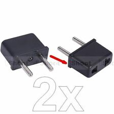 2pcs US USA American to EU European AC Power Plug Adapter Travel Converter