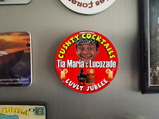 Cushty Cocktails, Tia Maria & Lucozade, del boy, Fridge Magnet, 58mm diam