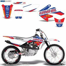 Decal Graphic Kit Honda CRF 70/80/100 CRF80 MX Bike Wrap w/Backgrounds CRF70 LO