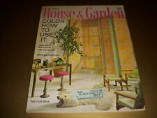 Vintage HOUSE & GARDEN Magazine, March, 1963, HOW TO USE COLOR, EGG COOK BOOK!
