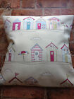 "Fryetts Shabby Chic Pink Beach Huts Pink & Cream cushion cover 16"" or 18"""