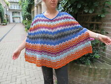 BNWT/MISSONI/ multicolored/METALLIC/WOOL MIX /freesize/PONCHO/WRAP/CAPELET/