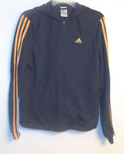 Adidas Womens Full Zip Hoodie Gray and Gold Size Small EUC