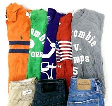 Abercrombie Lot of 8 Kids Boys T-Shirts, Shorts, Jeans Large L 10/12 [I10801]