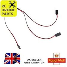 2x Servo Y Extension 30cm 300mm Lead RC Cable JR Spektrum Gold 2pcs UK SELLER