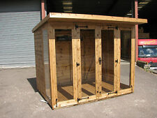 8 x 6 Pent roofed Summer house  NEW  toughened glass RRP £1799