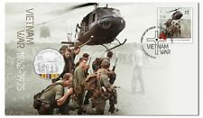 2016 Vietnam War 50c Coin - PNC Stamp & Coin Cover