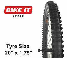 """ECONOMY CHILDRENS CYCLE TYRE 20"""" x 1.75 KNOBBLY MTB BIKE BICYCLE CYCLE TIRE"""
