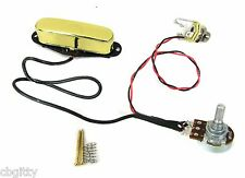 Gold Enclosed Single Coil Pickup Pre-wired with Volume Control & Jack #54-023-01