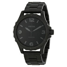 Fossil Nate Black Dial Black Ion-plated Steel Mens Watch JR1458