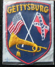 "GETTYSBURG SEW ON PATCH TOURIST SOUVENIR AMERICAN FLAG  2"" x 2 7/8"""
