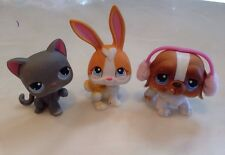 Littlest Pet Shop Snowfall Fun 74 Gray Cat 75 Bunny Rabbit 76 St Bernard Dog