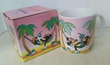 Vintage Mickey Mouse In Hammock Mug 1986 Applause Mug Cup Palm Trees With Box
