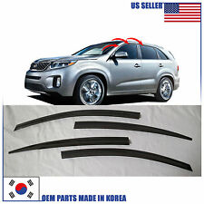 SMOKED DOOR WINDOW VENT VISOR DEFLECTOR (A109) KIA SORENTO R 2011-2015