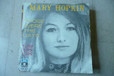 "MARY HOPKIN""Those were the days(BEATLES) - disco 45 giri PARLOPHONE Italy 1968"""