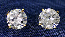 3 ct tw World's Best Cubic Zirconia Earrings 14kt Y