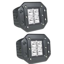 "TWO 4"" CREE 4PC DUALLY LED LIGHT BAR SPOTLIGHT 16W 16WATT FLUSHMOUNT FLUSH MOUNT"