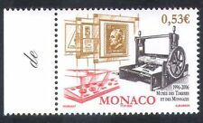 Monaco 2006 Stamps/Printing Press/Coins/Museum/Animation 1v (n36091)