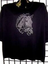 L 14/16 RODEO HORSE CRYSTAL DESIGN BY MICHAEL FOR TERAZZO WOMENS SWEATER OPTION
