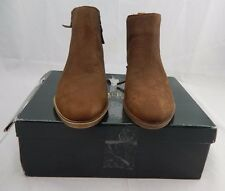 RALPH LAUREN SHIRA Dark snuff Leather Booties Short Boots Shoes 8B New $139