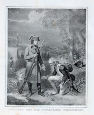 Napoleon Bonaparte Grande Armée Grenadier Schildwacht Wache Bajonett Feldlager