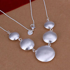 wholesale Sterling solid silver fashion jewelry Chain round Necklace XXSN088
