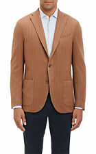 BNWT $1795 BOGLIOLI Deconstructed Camel Brushed Herringbone K. Jacket US40/EU50