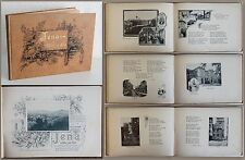 Jena in Wort und Bild um 1890. Ansichten, Lieder und Aussprüche - Ortskunde - xz