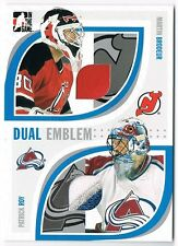 2005 ITG PASSING THE TORCH DUAL PATCH #PTT-24 MARTIN BRODEUR PATRICK ROY /20 !!