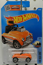 ORANGE PEDAL DRIVER 67 2 2016 TOY CAR ROD STREET FLAMES NEW ON CARD HOT WHEELS