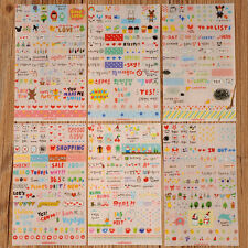 New Cute 6 Sheet Paper Stickers for Diary Scrapbook Book Wall Decor Skin