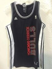 Adidas Women's NBA Jersey CHICAGO Bulls Derrick Rose Black Vertical sz M
