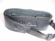 """FUJI FUJIFILM CAMERA NECK STRAP  Black 1 1/4 """" Wide, New condition #001484"""