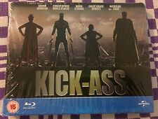 KICK-ASS Blu-ray STEELBOOK - REGION FREE - UK PLAY.COM EXCLUSIVE - BRAND NEW