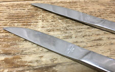 Hollywood Japan 3 Solid Handle Dinner Knives Mid Century Modern Stainless MOD
