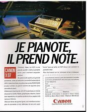 Publicité Advertising 1985 Le Micro portable Canon