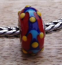 AUTHENTIC TROLLBEADS UNIQUE / OOAK TROLL - *Red eTHNIC PaTTeRN * - NEW