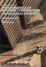 Fundamentals of Building Construction: Materials and Methods Allen, Edward