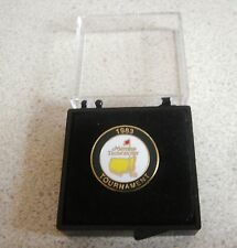 U.S. MASTERS 1983 WON BY SEVE BALLESTEROS STEM or FLAT GOLF BALL MARKER & CASE